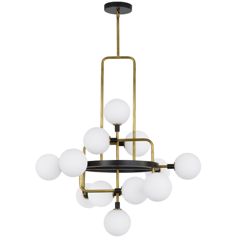 Viaggio Chandelier Opal/Brass Not Applicable no lamp