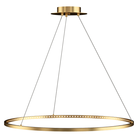 "Vellavi 36 Chandelier 36"" Diameter natural brass 2200K 90 CRI integrated led 90 cri 2200k 120v-277v"