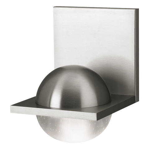 Sphere Wall Cast Clear satin nickel 3000K-2200K 90 CRI integrated led 90 cri 3000-2200k 120v