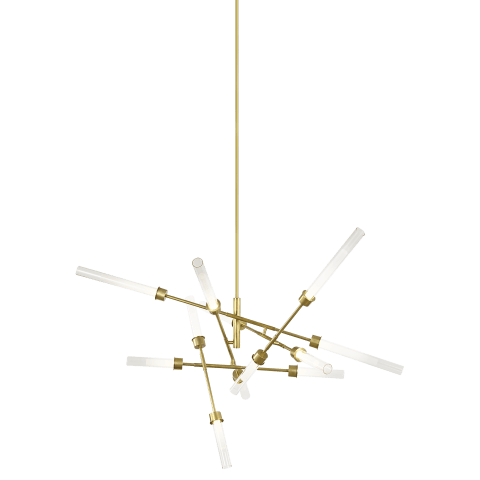 Linger 12-Light Abstract Chandelier 12-Light Abstract Chandelier natural brass 3000K 90 CRI