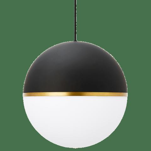 Akova Grande Pendant Matte Black/Aged Brass