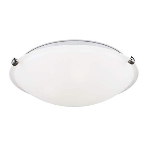 Three Light Flush Mount Brushed Nickel
