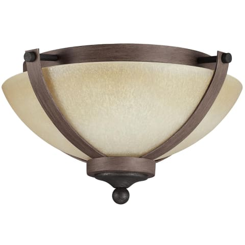 Corbeille Two Light Flush Mount Stardust