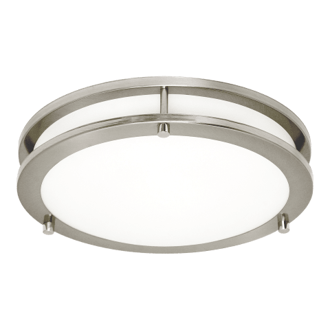 Mahone Medium LED Flush Mount Brushed Nickel Bulbs Inc