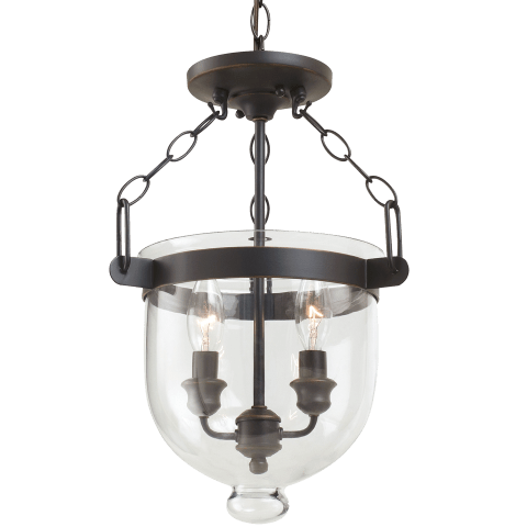 Westminster Two Light Semi-Flush Convertible Pendant Autumn Bronze