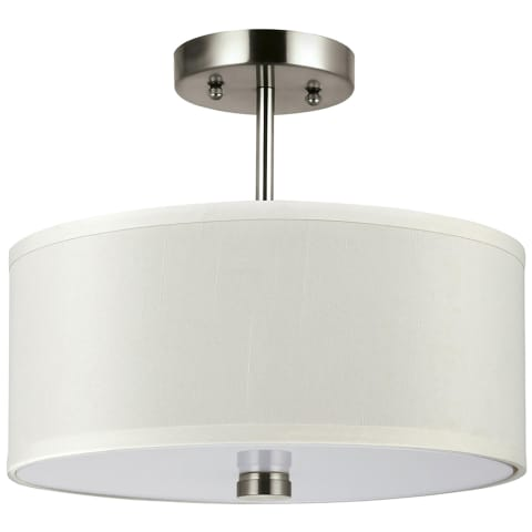 Dayna Two Light Flush / Semi-Flush Convertible Brushed Nickel