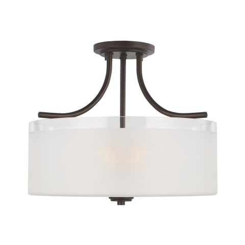 Norwood Three Light Semi-Flush Mount Burnt Sienna