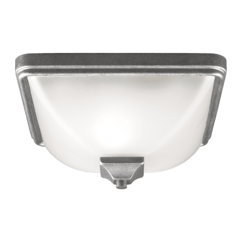 Irving Park One Light Outdoor Flush Mount Weathered Pewter
