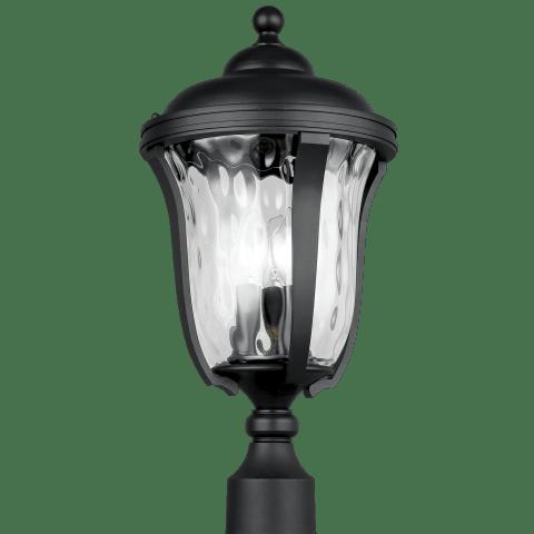 Perrywood Three Light Outdoor Post Lantern Black