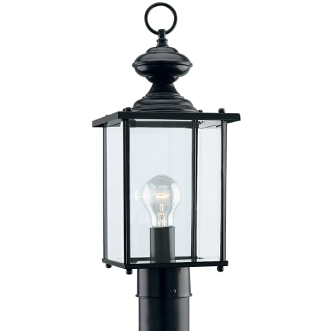 Jamestowne One Light Outdoor Post Lantern Black