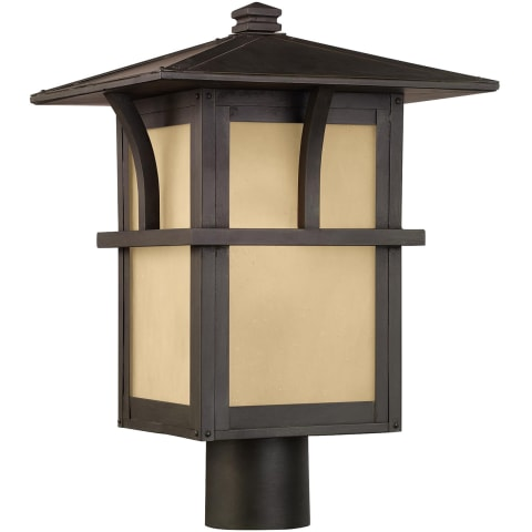 Medford Lakes One Light Outdoor Post Lantern Statuary Bronze Bulbs Inc