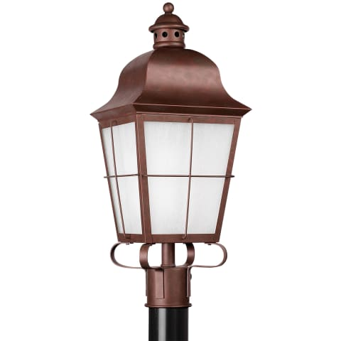 Chatham One Light Outdoor Post Lantern Weathered Copper