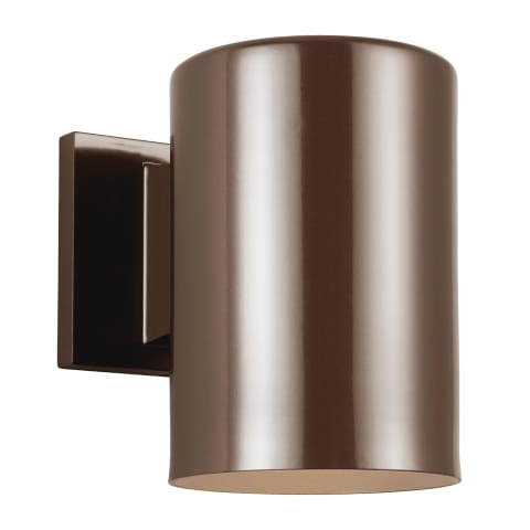 Outdoor Cylinders Small LED Wall Lantern Bronze
