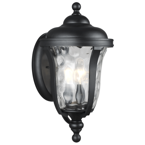 Perrywood Medium Three Light Outdoor Wall Lantern Black Bulbs Inc