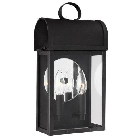 Conroe Two Light Outdoor Wall Lantern  Black Bulbs Inc