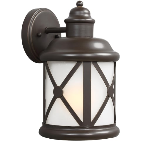 Lakeview Medium One Light Outdoor Wall Lantern Antique Bronze Bulbs Inc