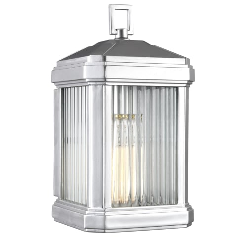 Gaelan Medium One Light Outdoor Wall Lantern Painted Brushed Nickel Bulbs Inc