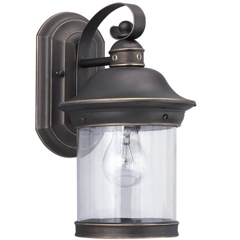 Hermitage One Light Outdoor Wall Lantern Antique Bronze