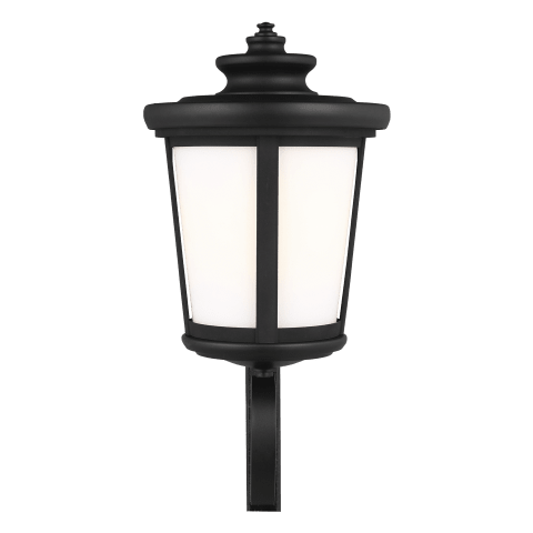 Eddington Large One Light Uplight Outdoor Wall Lantern Black
