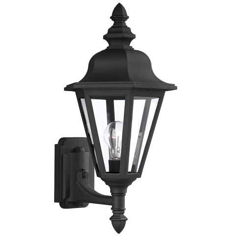 Brentwood One Light Outdoor Wall Lantern Black