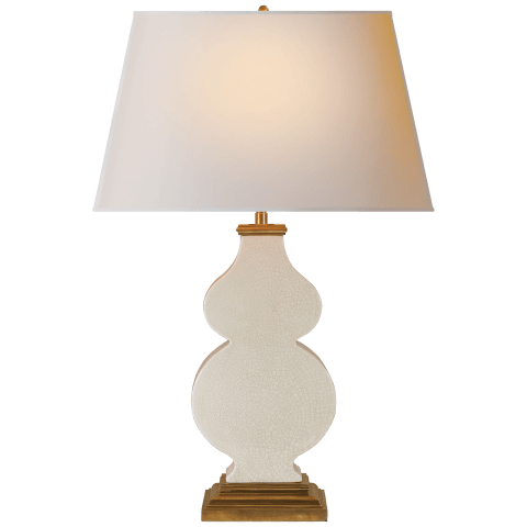 Anita Table Lamp in Tea Stain Porcelain with Natural Paper Shade