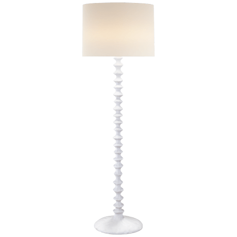 Lilian Floor Lamp in Plaster White with Linen Shade