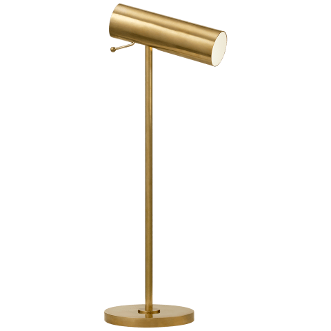 Lancelot Pivoting Desk Lamp in Hand-Rubbed Antique Brass