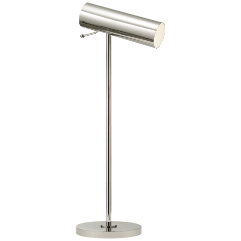 Lancelot Pivoting Desk Lamp in Polished Nickel