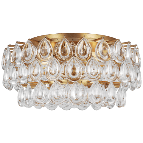 Liscia Medium Flush Mount in Gild with Crystal