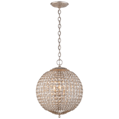 Renwick Small Sphere Chandelier in Gild with Crystal