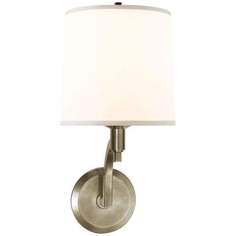 Westport Sconce in Pewter with Silk Shade