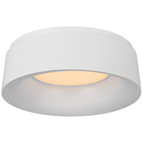 Halo Small Flush Mount in Matte White