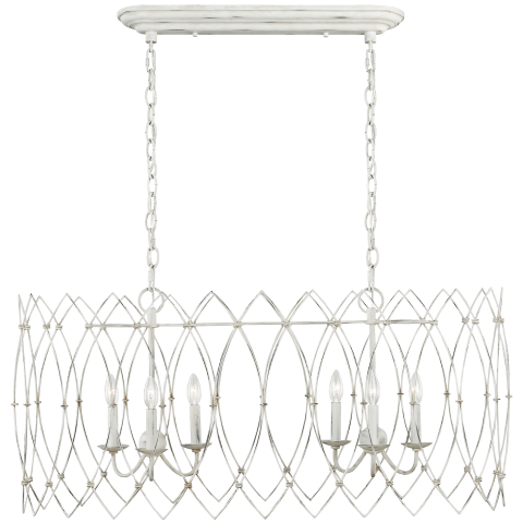 Gardner 6 - Light Chandelier Rustic White