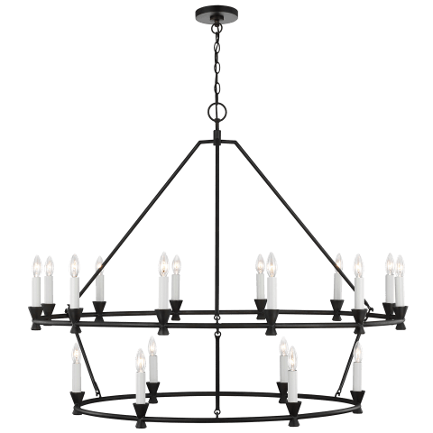 Keystone 18 - Light Chandelier Aged Iron