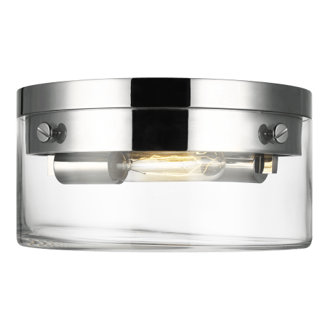 Garrett Medium Flush Mount Polished Nickel