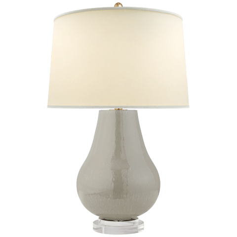 Arica Table Lamp in Shellish Gray with Natural Percale Shade