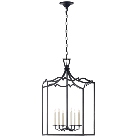 Darlana Large Fancy Lantern in Aged Iron