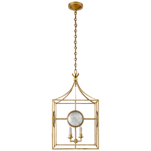 Gramercy Medium Lantern in Gilded Iron