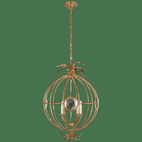 Gramercy Large Globe Lantern in Gilded Iron