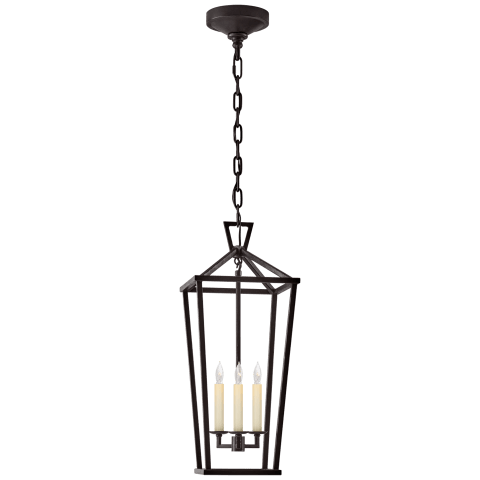 Darlana Large Tall Lantern in Aged Iron