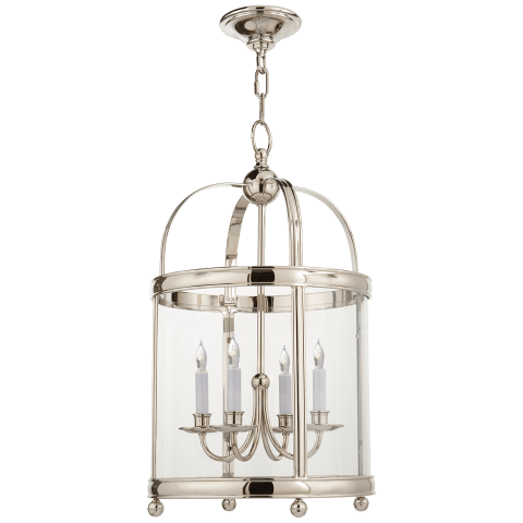 Edwardian Arch Top Small Lantern in Polished Nickel
