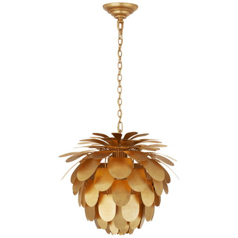 Cynara Small Chandelier in Gild