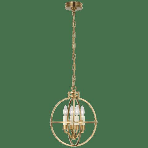 """Lexie 14"""" Globe Lantern in Antique-Burnished Brass"""