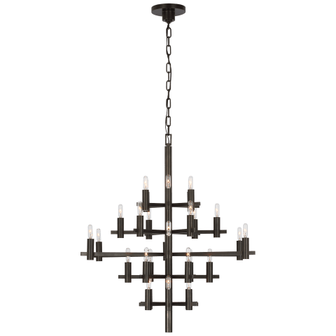 Sonnet Medium Chandelier in Bronze
