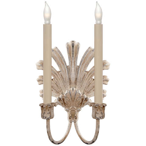 Marlborough Double Sconce in Old White