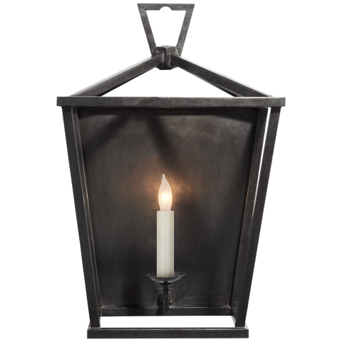 Darlana Wall Lantern in Aged Iron