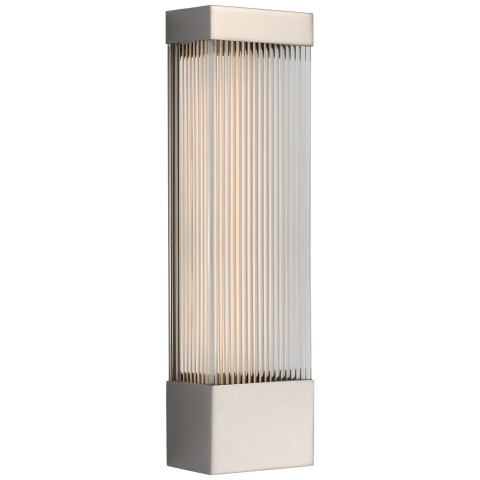 """Vance 20"""" Sconce in Polished Nickel with Clear Glass Rods"""