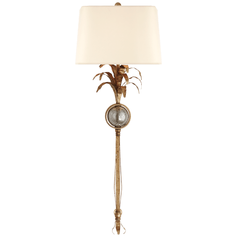 Gramercy Large Sconce in Gilded Iron with Natural Paper Shade