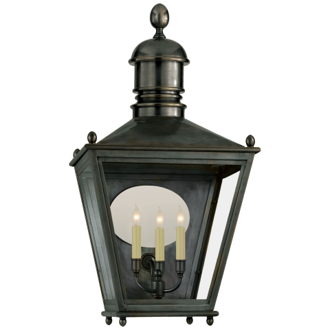 Sussex Large 3/4 Lantern in Bronze