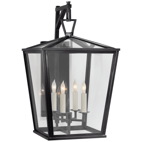 Darlana Medium Bracket Lantern in Bronze